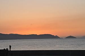 男木島からの夕焼け